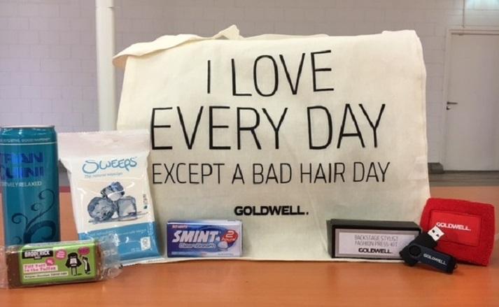 Goldwell Fashion Week goodiebag